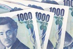 1000 японских иен Стоковое Фото