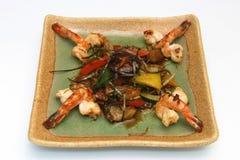 Японское блюдо креветки стоковое изображение rf
