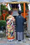 японское венчание Стоковые Фото