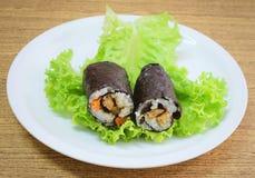 Японское вещество крена суш Maki риса с тофу и морковью Стоковое Изображение RF