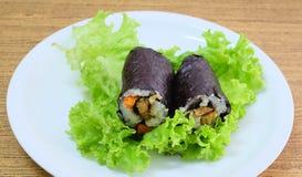 Японское вещество крена суш Maki риса с тофу и морковью Стоковое фото RF