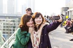 Японское взятие туристов Стоковая Фотография