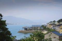 Японское горное село около Хиросимы Стоковая Фотография