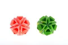Японское искусство Бумага Origami Японское искусство Kusudama Стоковое Изображение RF