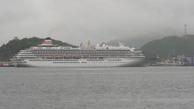 Японское плавание Asuka II вкладыша круиза пассажира на морском порте предпосылки акции видеоматериалы