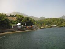 Японское река сельской местности Стоковое Изображение