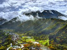 Японское село Стоковая Фотография
