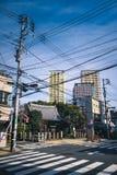 Японское скрещивание улицы Стоковая Фотография