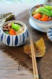 Японское тушёное мясо мяса и картошки (Nikujaga) стоковые фотографии rf
