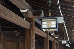 Японское украшение лампы на святыне Meiji Jingu, Harajuku, Японии Стоковые Изображения RF