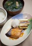 Японское teriyaki Buri кухни (Yellowtail) Стоковое фото RF