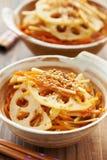 Японское vegetable kinpira блюда Стоковая Фотография