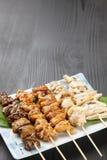 Японское yakitori BBQ цыпленка Стоковая Фотография RF