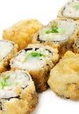 японцы кухни глубоко зажаренные свертывают суши Стоковое фото RF