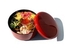 Японцы kaisen бенто в белизне Стоковые Фото