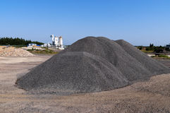 ярд взгляда щебня промышленного завода Беларуси Стоковое Изображение
