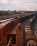 ярд железной дороги Стоковое Изображение