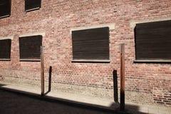 Ярд исполнения, Освенцим стоковая фотография rf