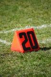 ярд отметки футбола поля Стоковое Изображение RF