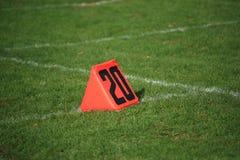 ярд отметки футбола поля Стоковые Изображения RF