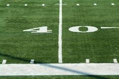 ярд отметки футбола 40 Стоковое фото RF