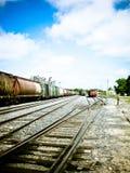 ярд поезда улицы полета Стоковая Фотография RF