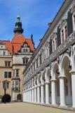 Ярд суда лошади в Дрезден Стоковая Фотография