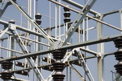 ярд трансформатора электрического оборудования Стоковое Изображение RF
