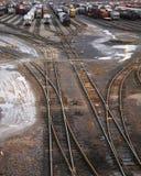 ярд 03 железных дорог Стоковые Фото