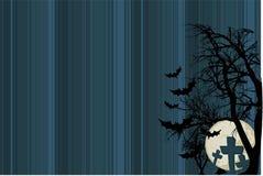 ярд halloween предпосылки тягчайший иллюстрация вектора