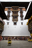 ярд paro dzong суда Стоковые Изображения RF
