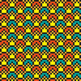 Яркая абстрактная современная безшовная шить картина Стоковые Изображения