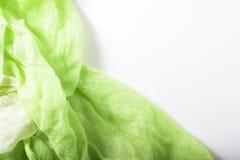 Яркая ая-зелен сложенная ткань Стоковое Изображение