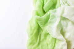 Яркая ая-зелен сложенная ткань Стоковое фото RF