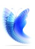 Яркая бабочка полигонов Стоковое Фото