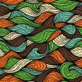 Яркая безшовная картина волны Стоковые Изображения