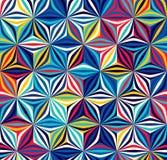 Яркая безшовная картина геометрических форм Цвет создает элементы тома Стоковое фото RF