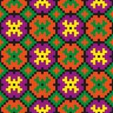 Яркая безшовная картина искусства пиксела Стоковая Фотография