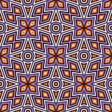 Яркая безшовная картина с симметричным геометрическим орнаментом абстрактная предпосылка цветастая Этнические и племенные мотивы Стоковое фото RF