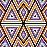 Яркая безшовная картина с симметричным геометрическим орнаментом абстрактная предпосылка цветастая Этнические и племенные мотивы Стоковые Изображения