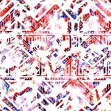 Яркая безшовная картина текстура акварели Этнический и племенной m Стоковое фото RF