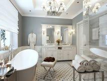 Яркая ванная комната Провансаль стоковая фотография