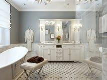 Яркая ванная комната Провансаль стоковое фото rf