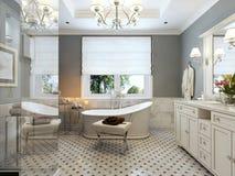 Яркая ванная комната Провансаль стоковые изображения