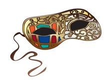 Яркая венецианская маска масленицы Стоковые Фотографии RF