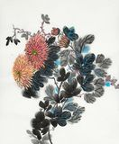 Яркая ветвь хризантемы бесплатная иллюстрация