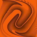Яркая геометрическая оранжевая черная картина полутонового изображения grunge Мягкие динамические линии Абстрактная иллюстрация в иллюстрация вектора