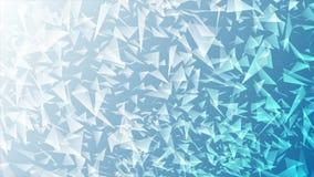 Яркая голубая абстрактная полигональная анимация видео заноз