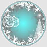 Яркая голубая предпосылка Кристмас Стоковые Изображения RF