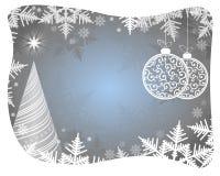 Яркая голубая предпосылка Кристмас Стоковое Изображение RF